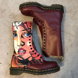 Unique Dr Martens Warhol POP ART vintage boots